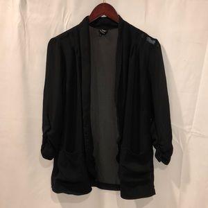 Bobeau Sheer Blazer Style Jacket